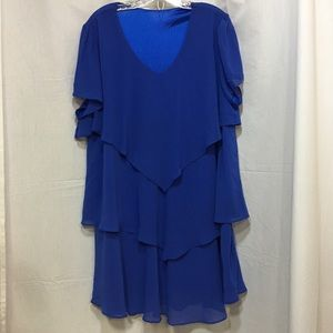 ✅Unbranded Royal Blue Rayon Dress **READ BELOW**